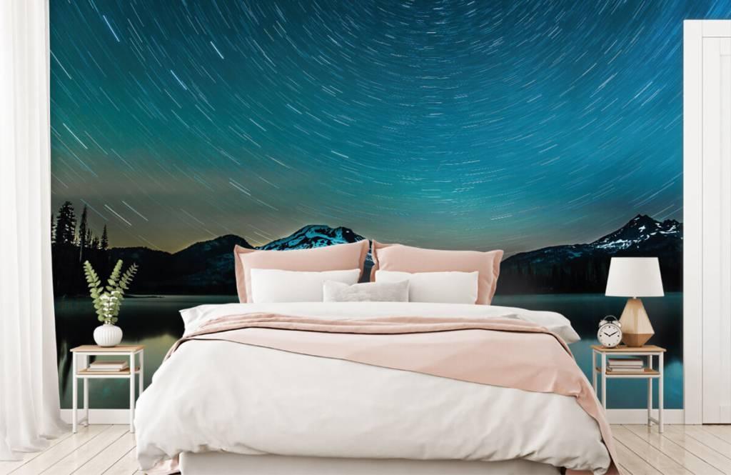 Norrsken Mörk stjärnhimmel 2