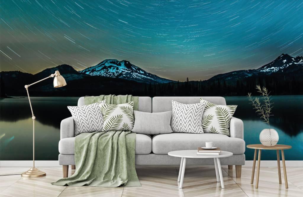 Norrsken Mörk stjärnhimmel 7
