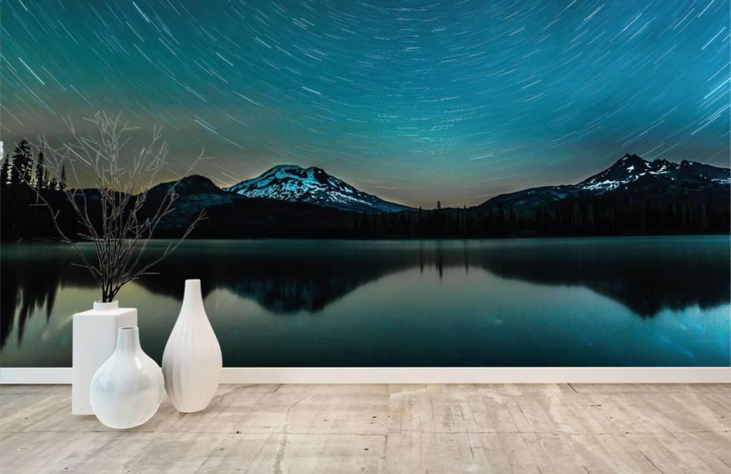Norrsken Mörk stjärnhimmel 8