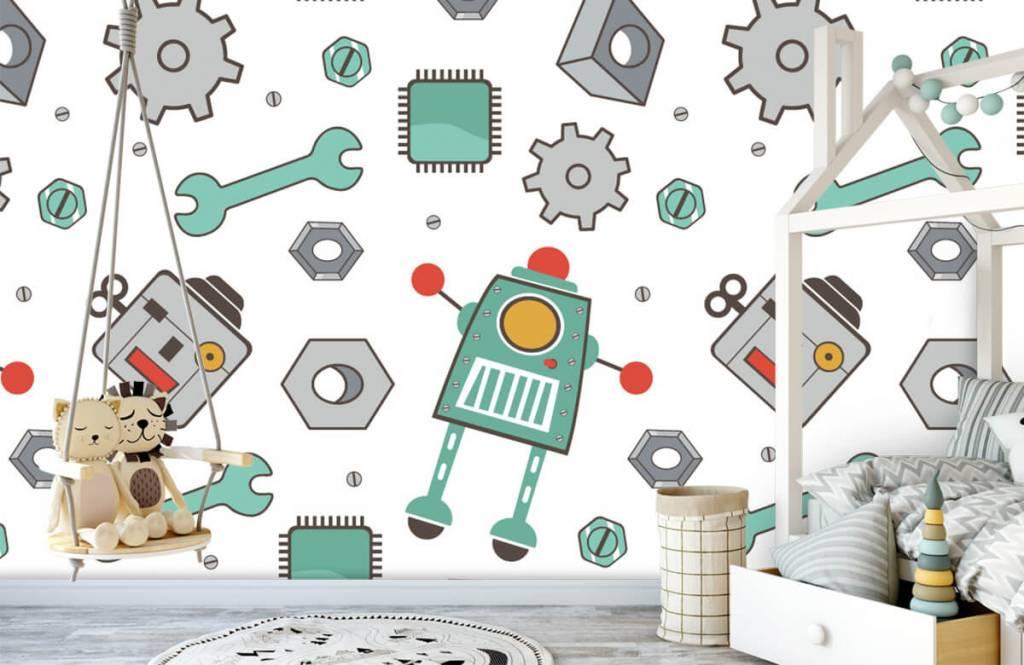 Barn tapeter Signerade robotar 1