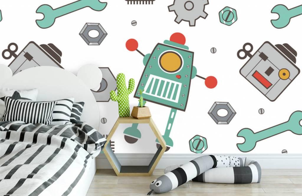 Barn tapeter Signerade robotar 3