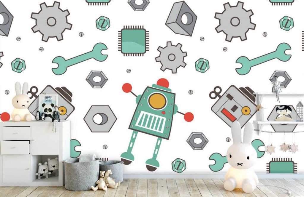 Barn tapeter Signerade robotar 4