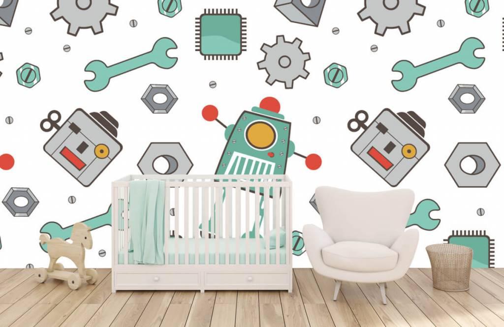 Barn tapeter Signerade robotar 5