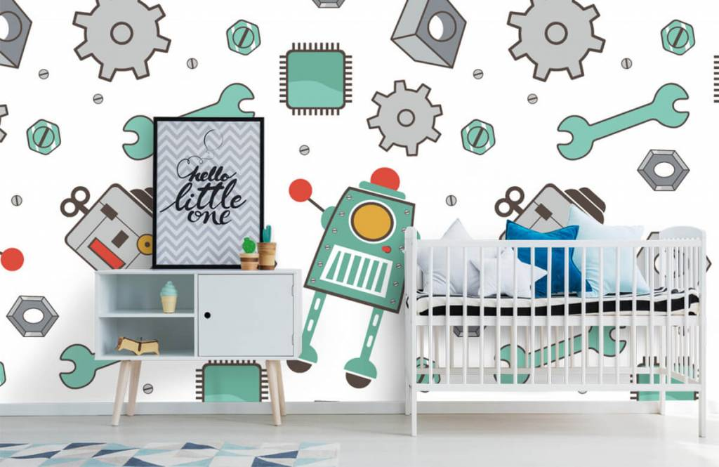 Barn tapeter Signerade robotar 6