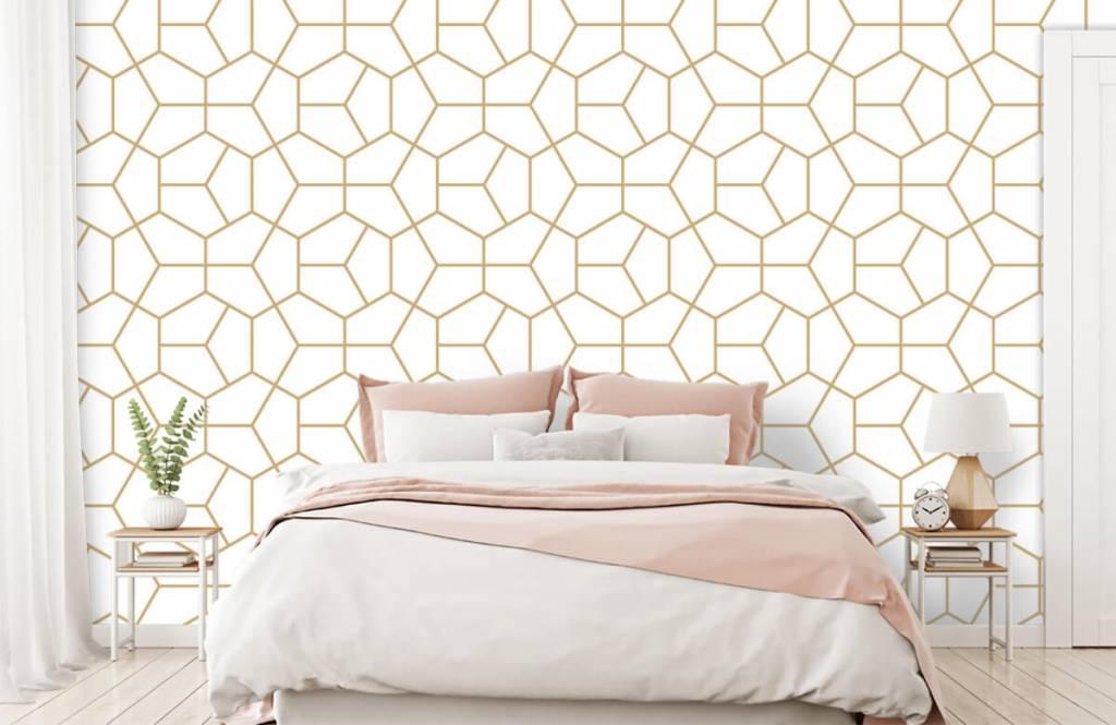 Övriga Guld geometriska mönster 1