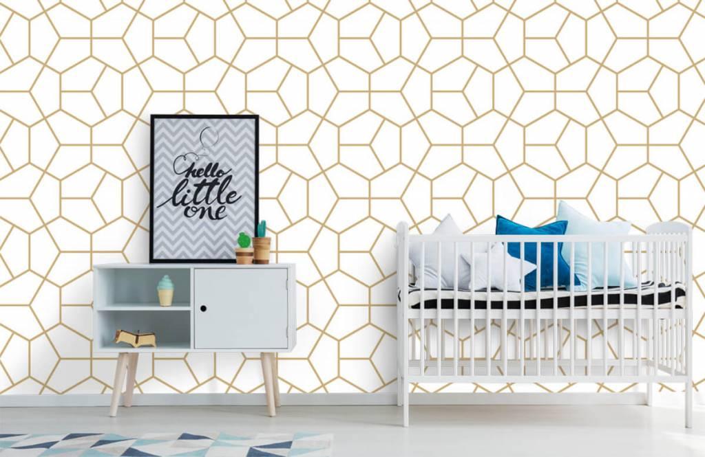 Övriga Guld geometriska mönster 4