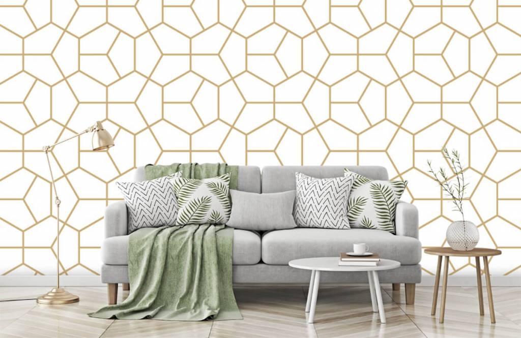 Övriga Guld geometriska mönster 5