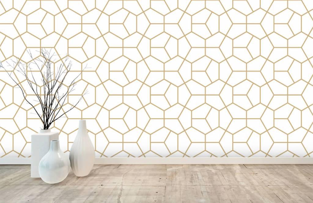 Övriga Guld geometriska mönster 6