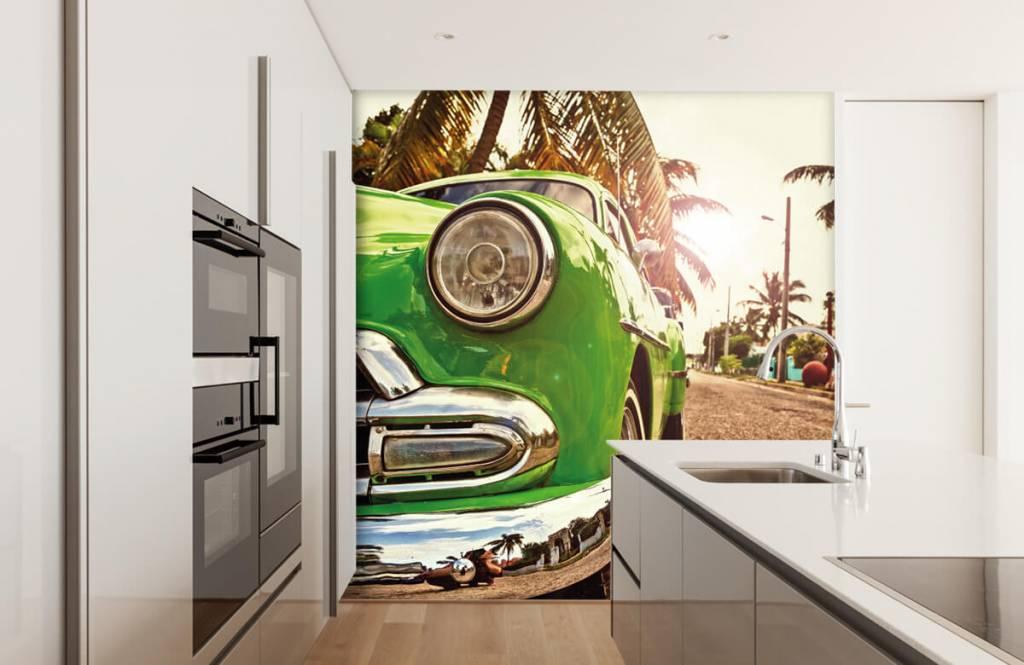 Transport Grön klassisk bil 4