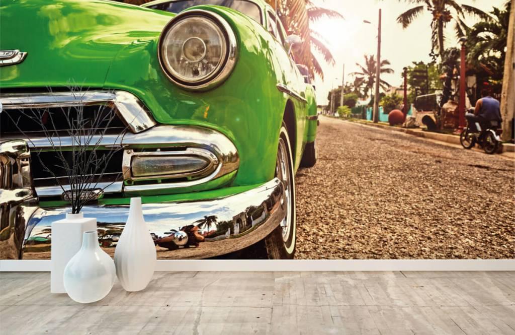 Transport Grön klassisk bil 8