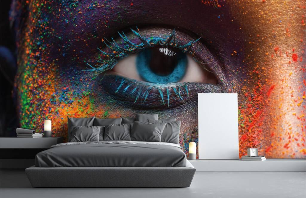Ansikten och porträtt Färgglada ögon 3