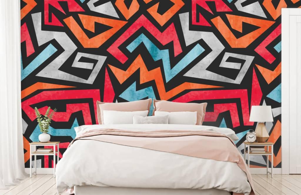 Graffiti Färgglatt grafiskt tryck 2