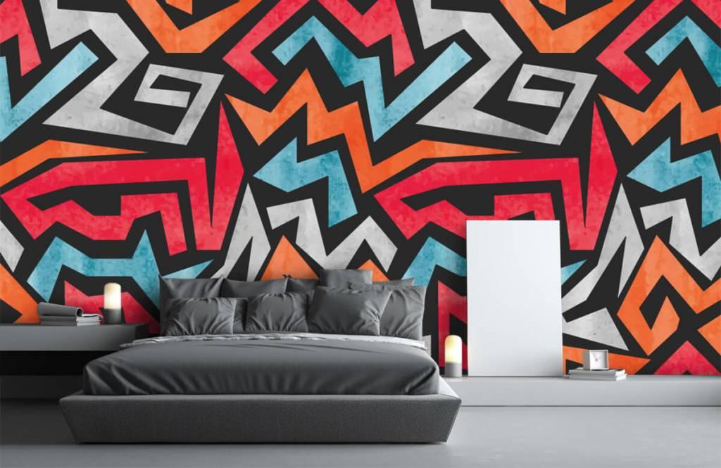 Graffiti Färgglatt grafiskt tryck 3