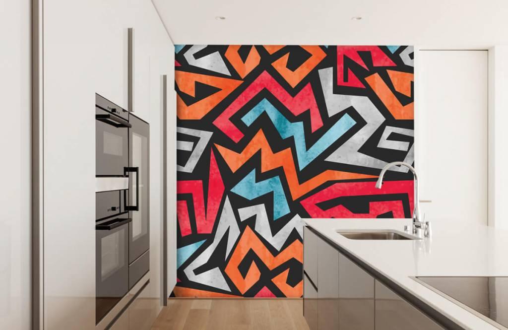 Graffiti Färgglatt grafiskt tryck 4