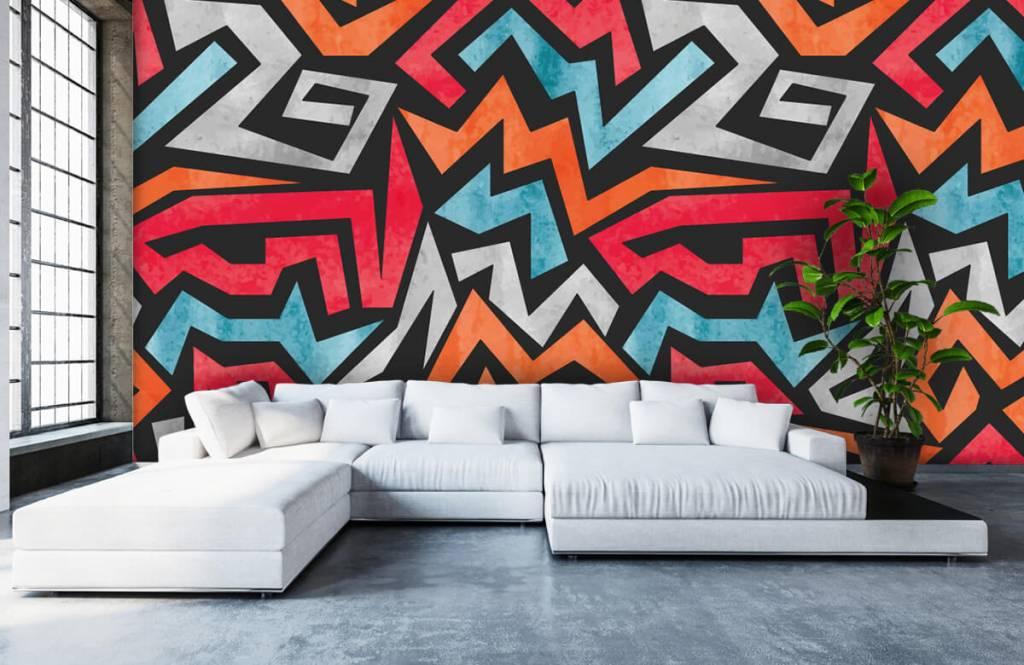 Graffiti Färgglatt grafiskt tryck 5