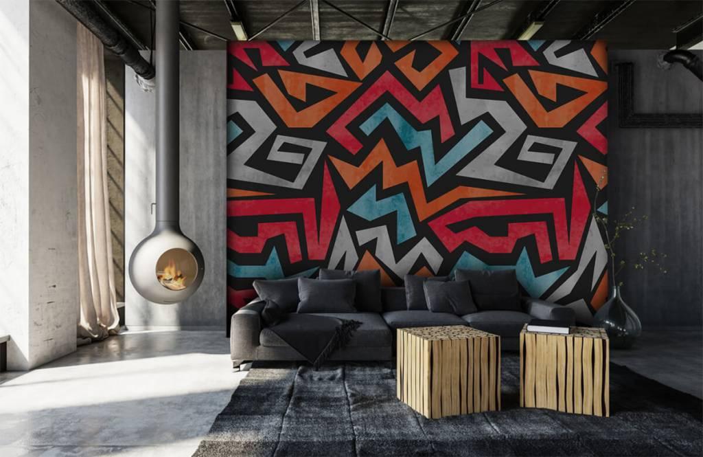 Graffiti Färgglatt grafiskt tryck 6