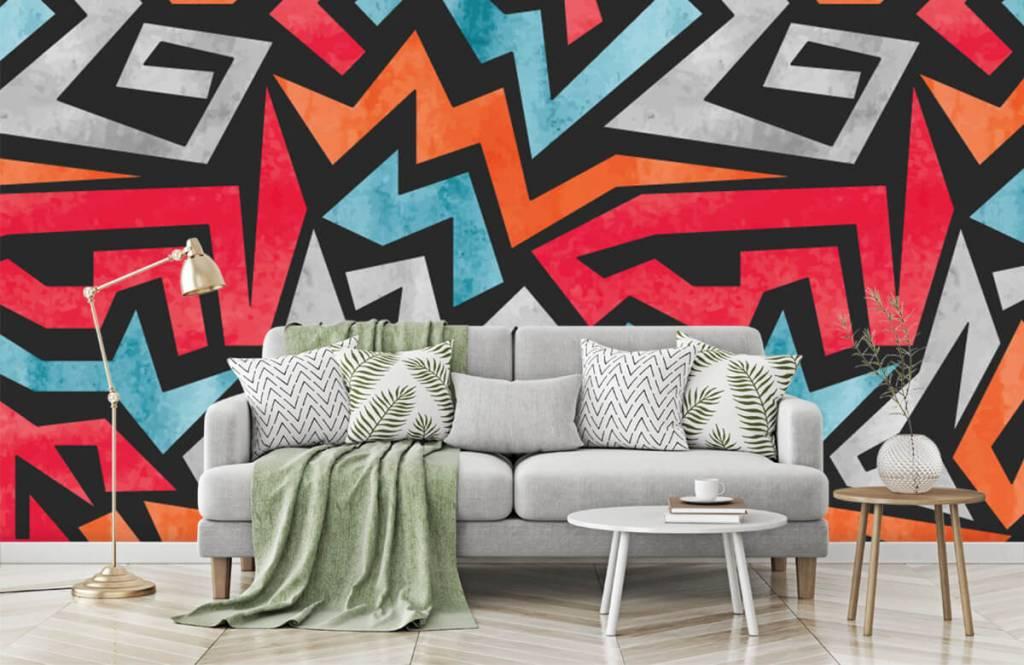Graffiti Färgglatt grafiskt tryck 7
