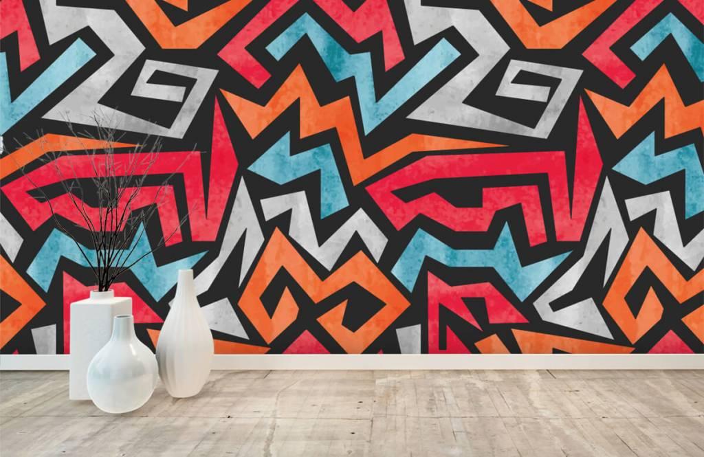 Graffiti Färgglatt grafiskt tryck 8
