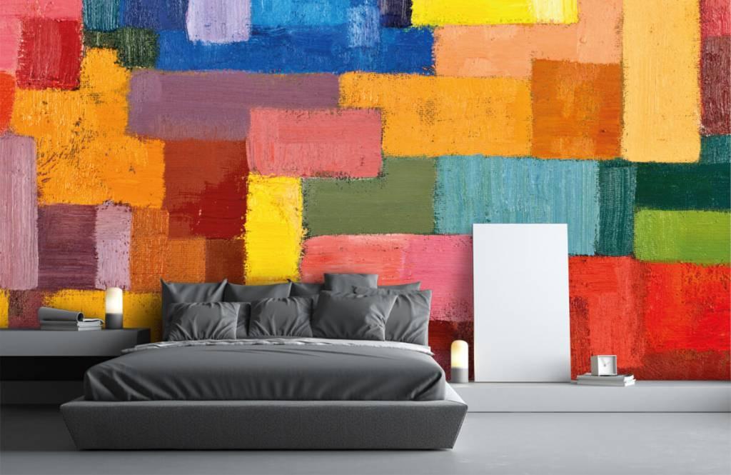 Abstrakt tapet Färgglad ytfördelning 3