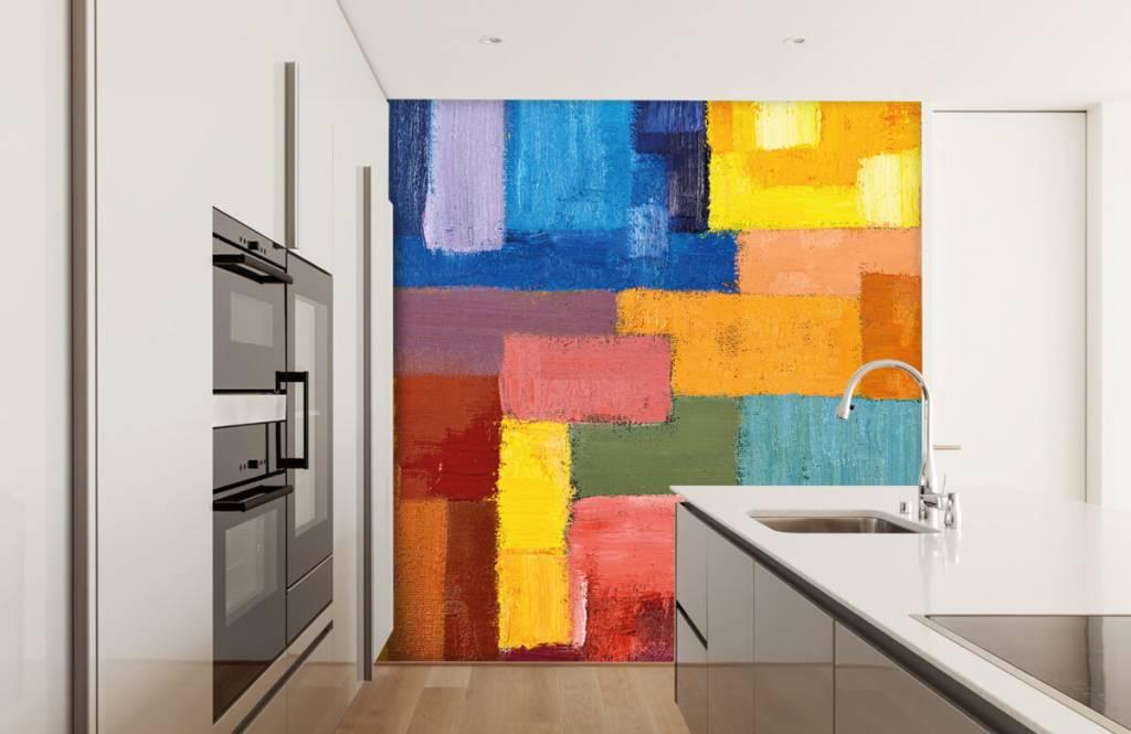 Abstrakt tapet Färgglad ytfördelning 4