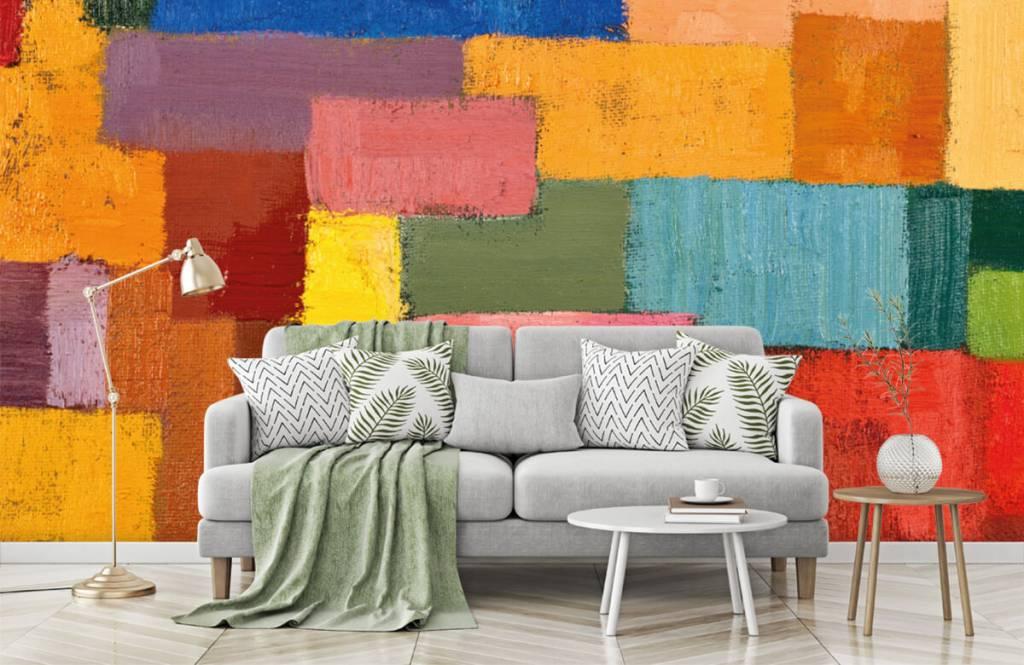 Abstrakt tapet Färgglad ytfördelning 7