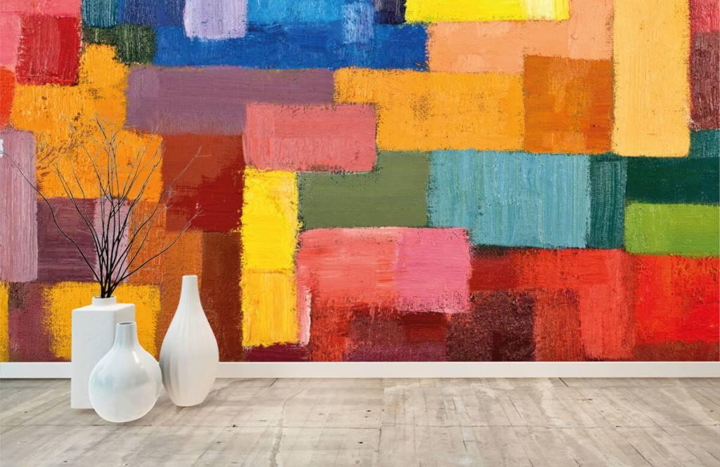Abstrakt tapet Färgglad ytfördelning 8