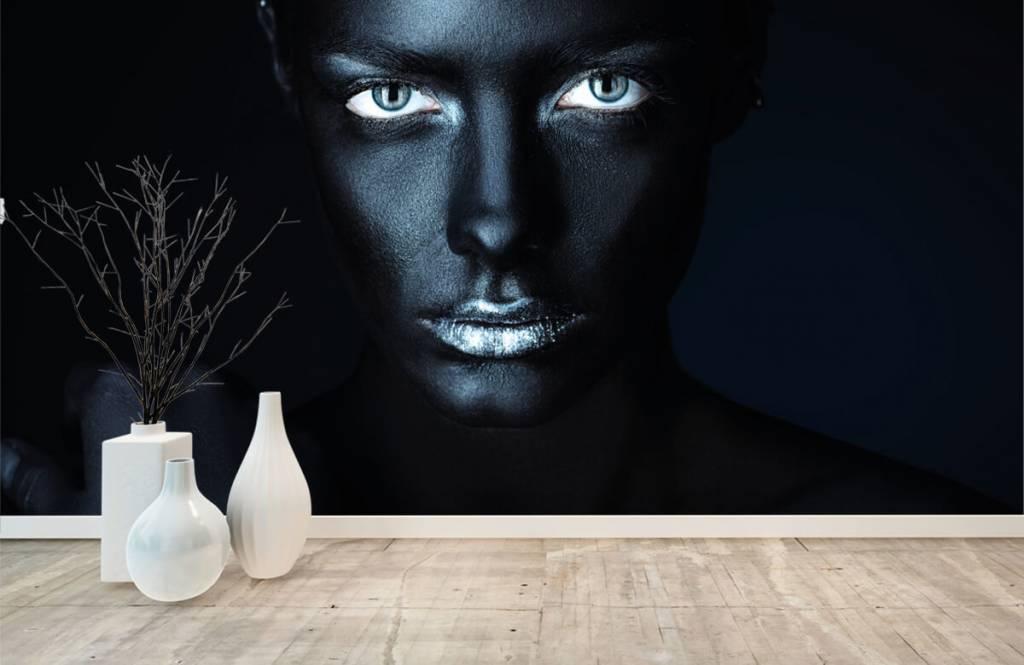 Ansikten och porträtt Mystisk kvinna 8