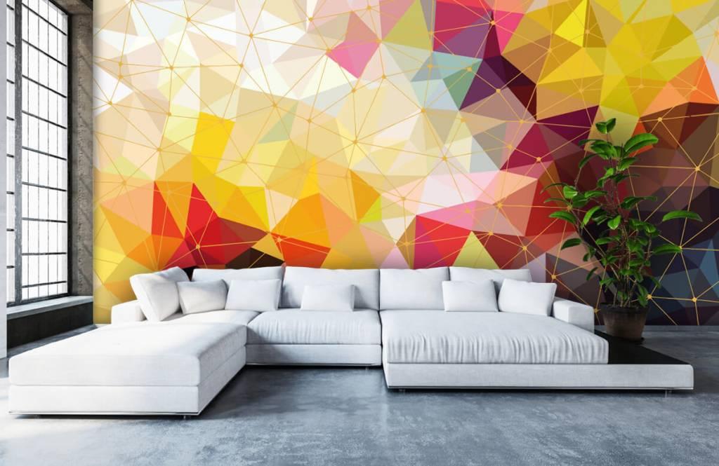 Övriga Tryck av färgglada trianglar 3