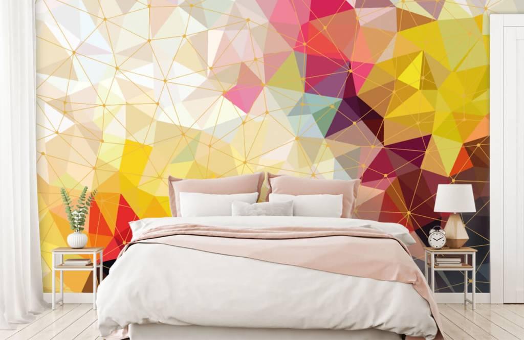 Övriga Tryck av färgglada trianglar 4