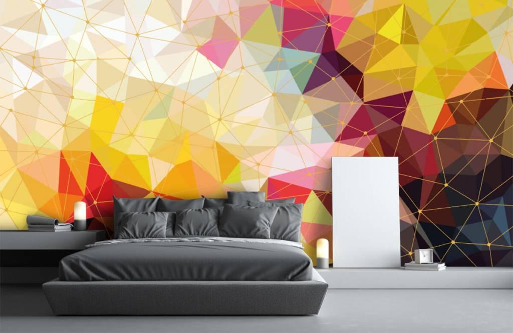 Övriga Tryck av färgglada trianglar 5