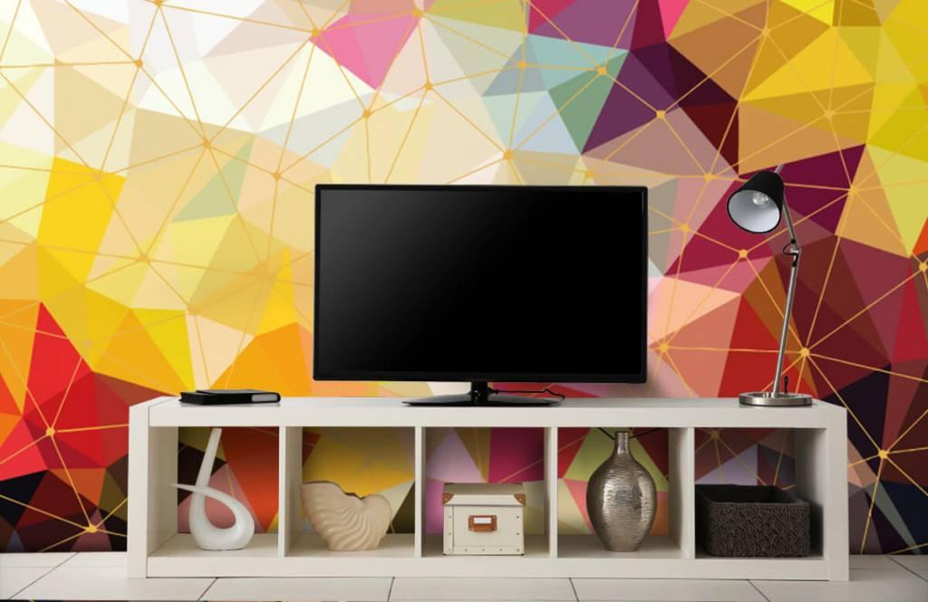 Övriga Tryck av färgglada trianglar 7
