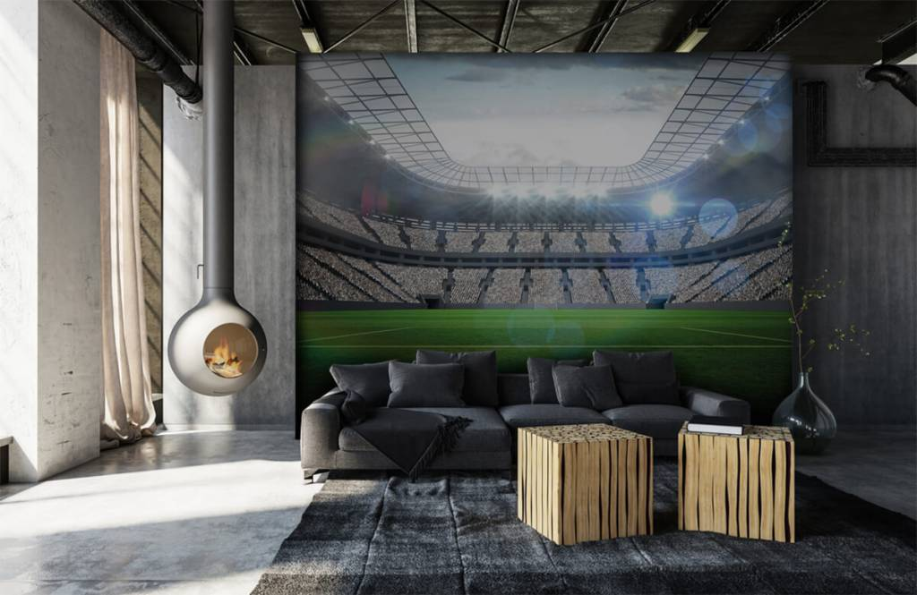Stadion Stadion med öppet tak 7