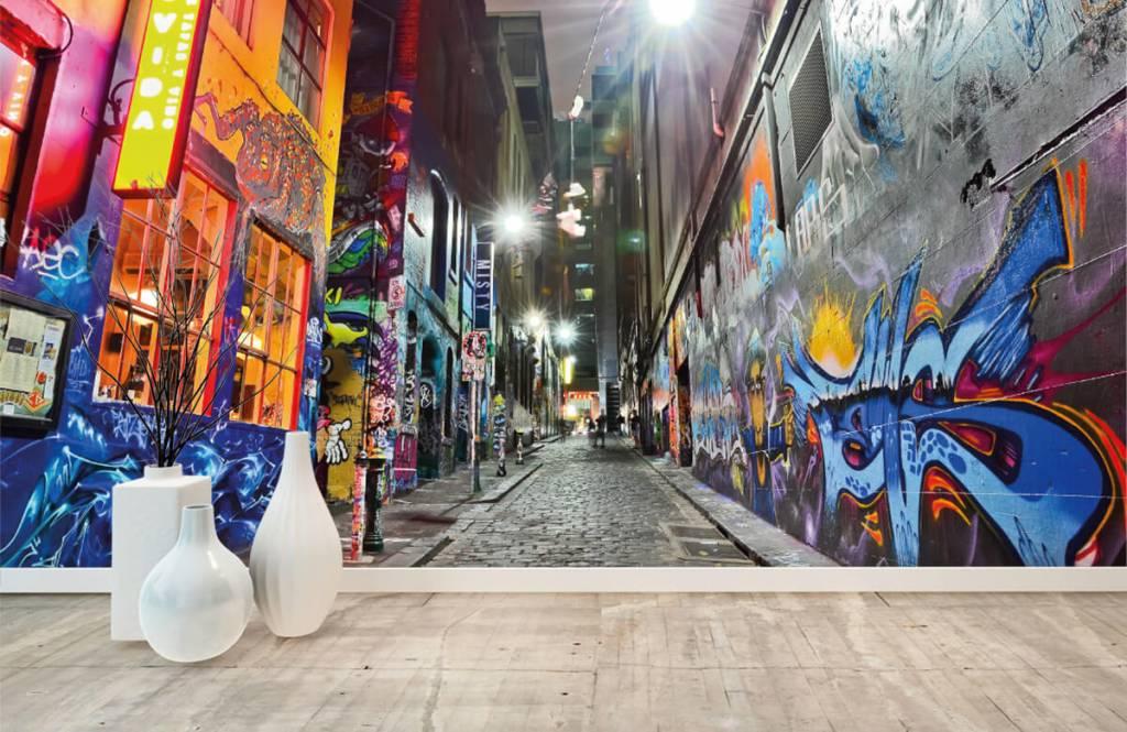 Graffiti Gata med graffiti 8