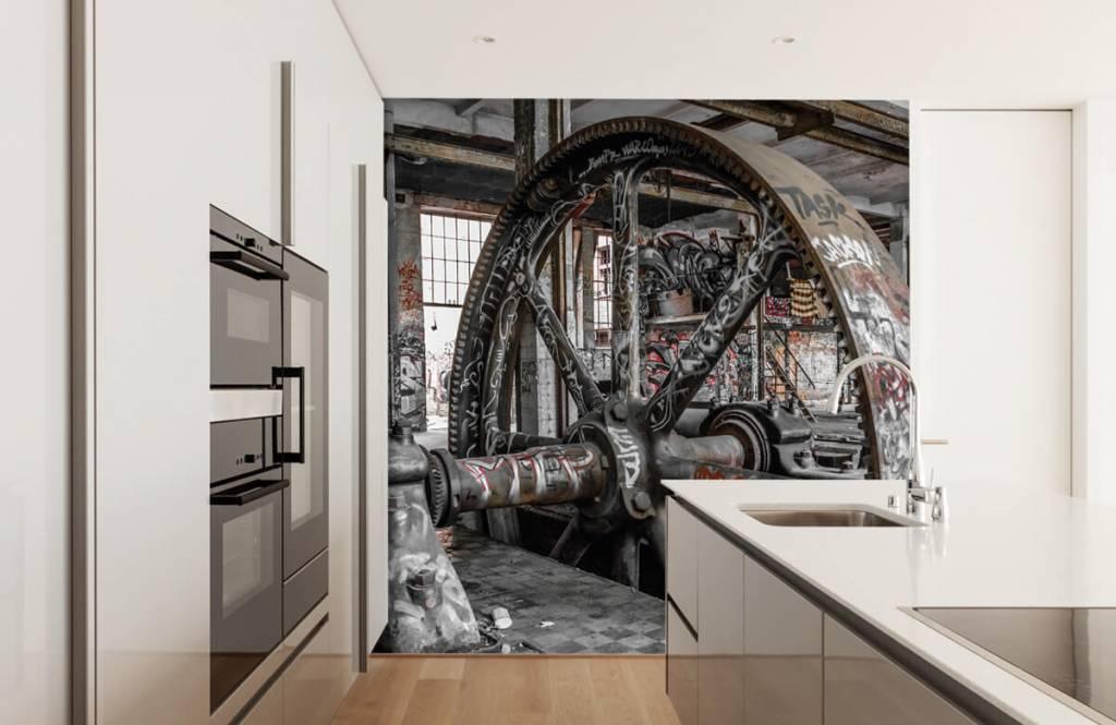 Arkitektur Övergiven fabrik 4