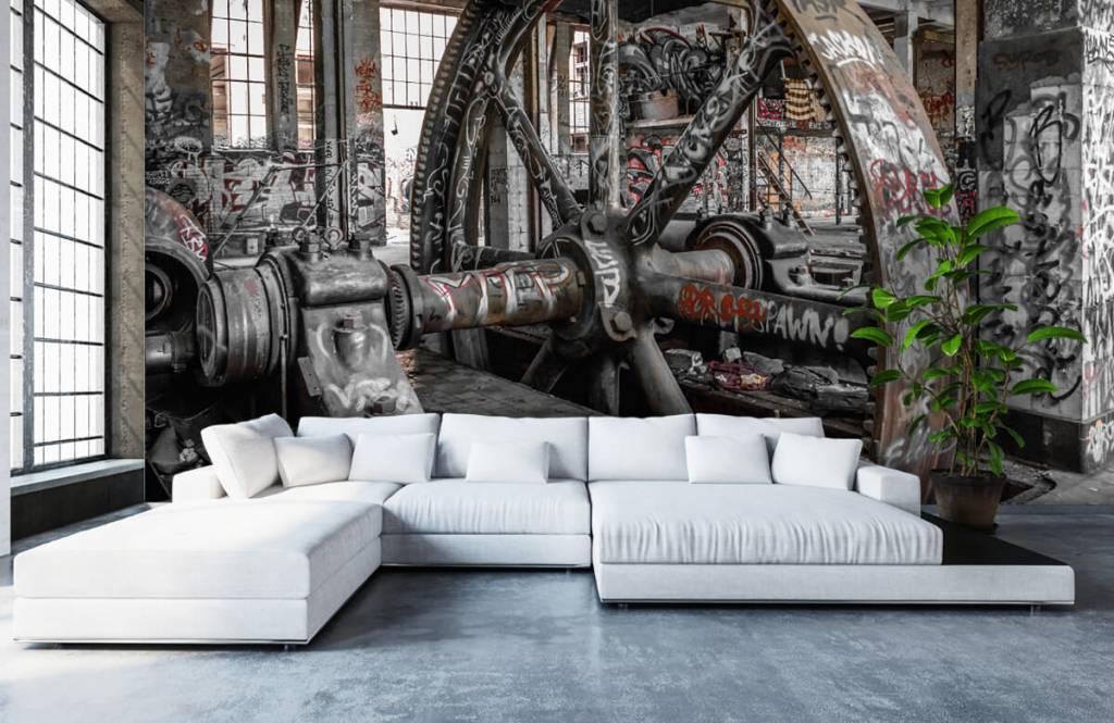 Arkitektur Övergiven fabrik 6