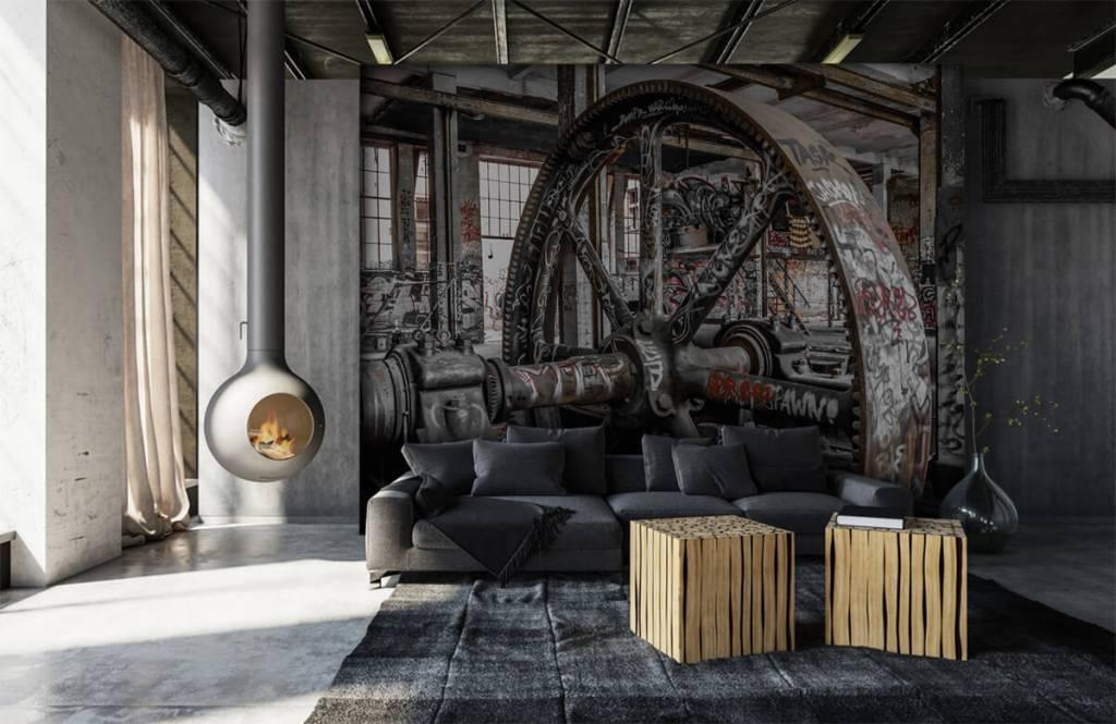 Arkitektur Övergiven fabrik 7