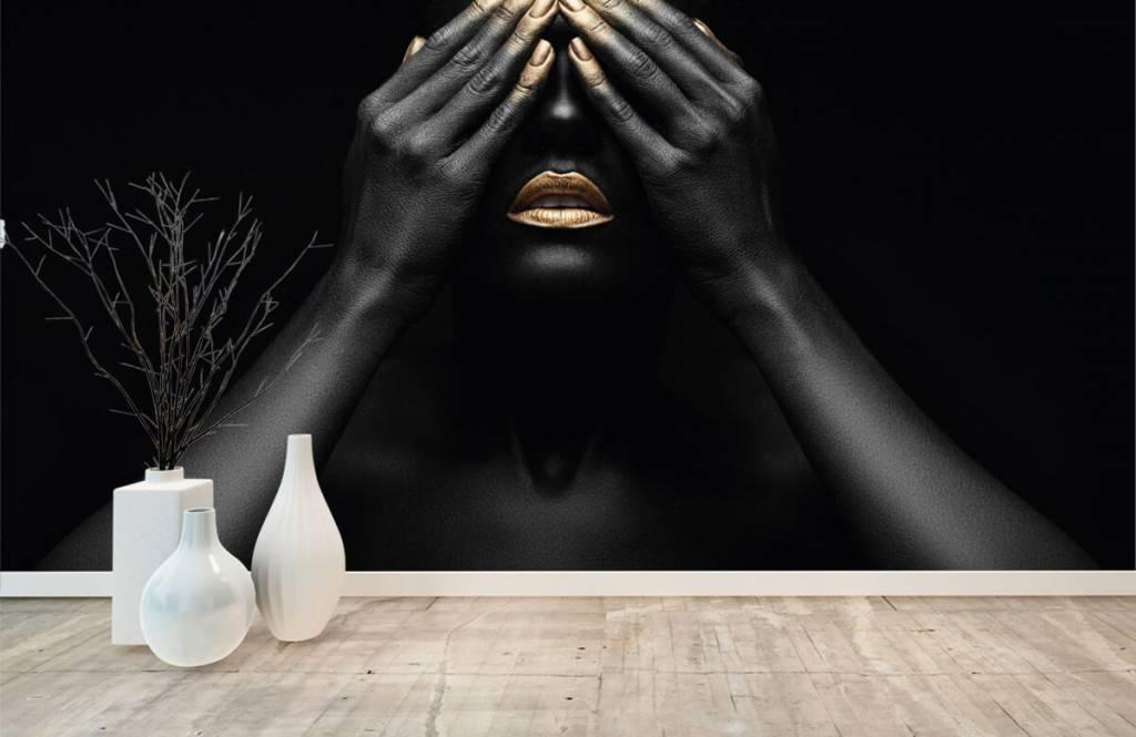 Modern tapet Kvinna med händerna framför ögonen 8
