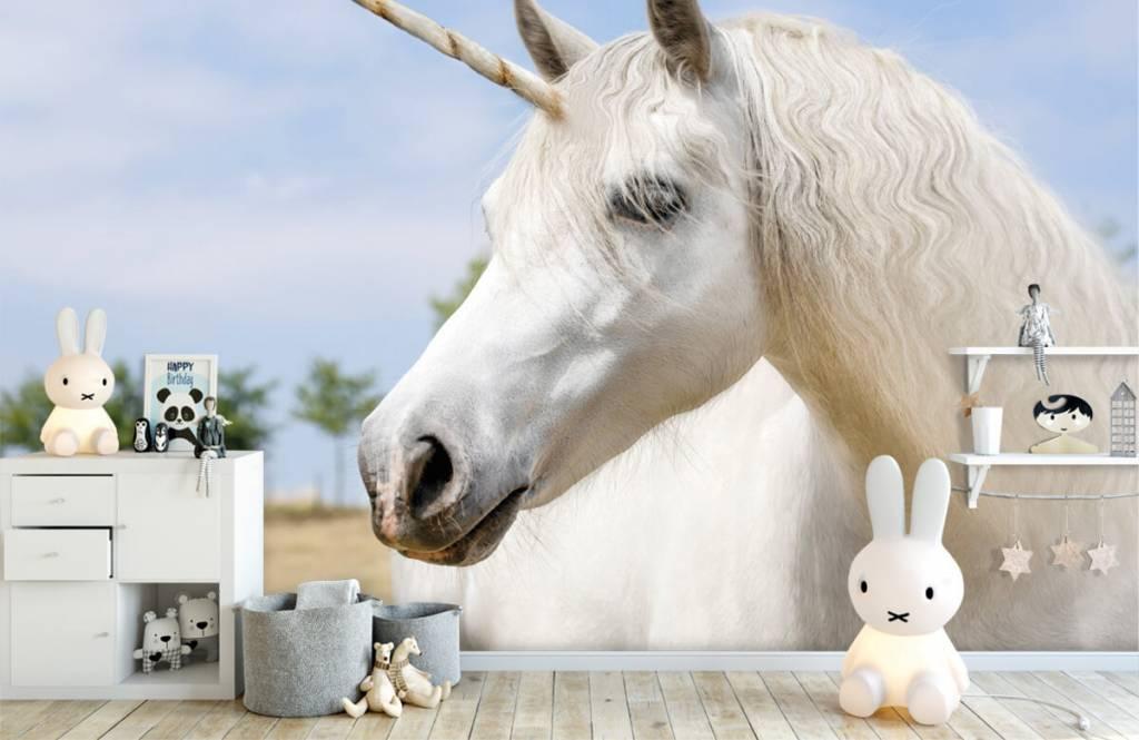 Hästar Vit enhörning 1