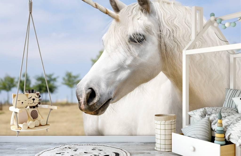 Hästar Vit enhörning 4