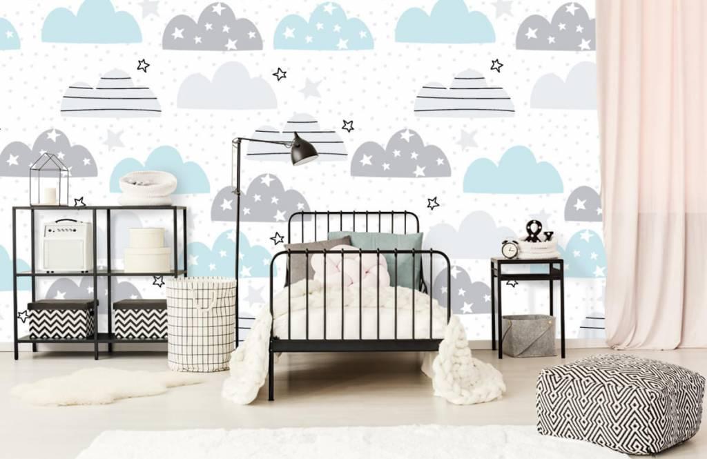 Baby tapeter Ritade moln 2