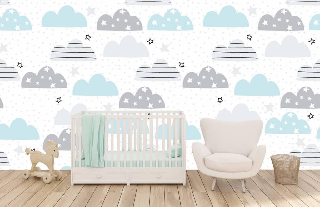 Baby tapeter Ritade moln 6