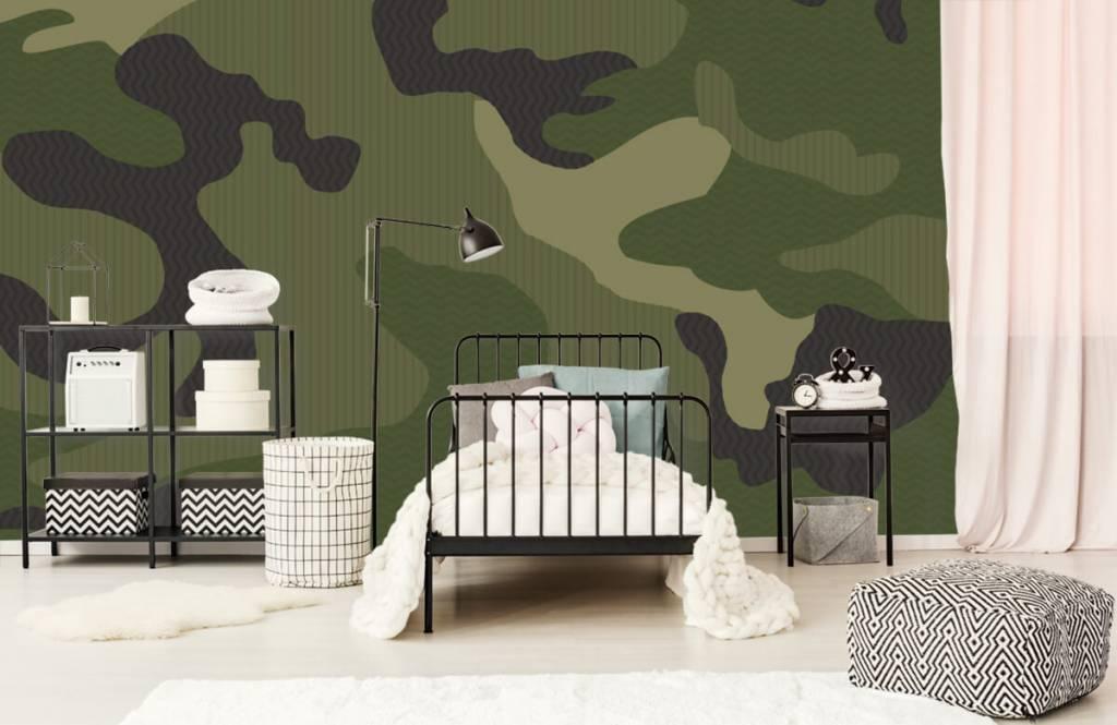 Barn tapeter Grön kamouflage 1