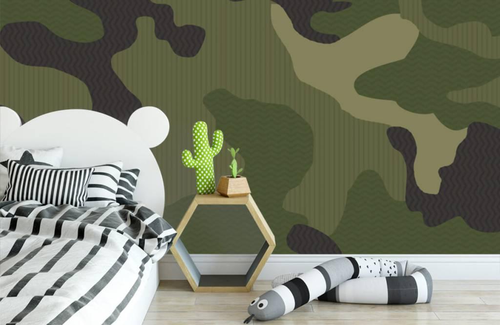 Barn tapeter Grön kamouflage 3