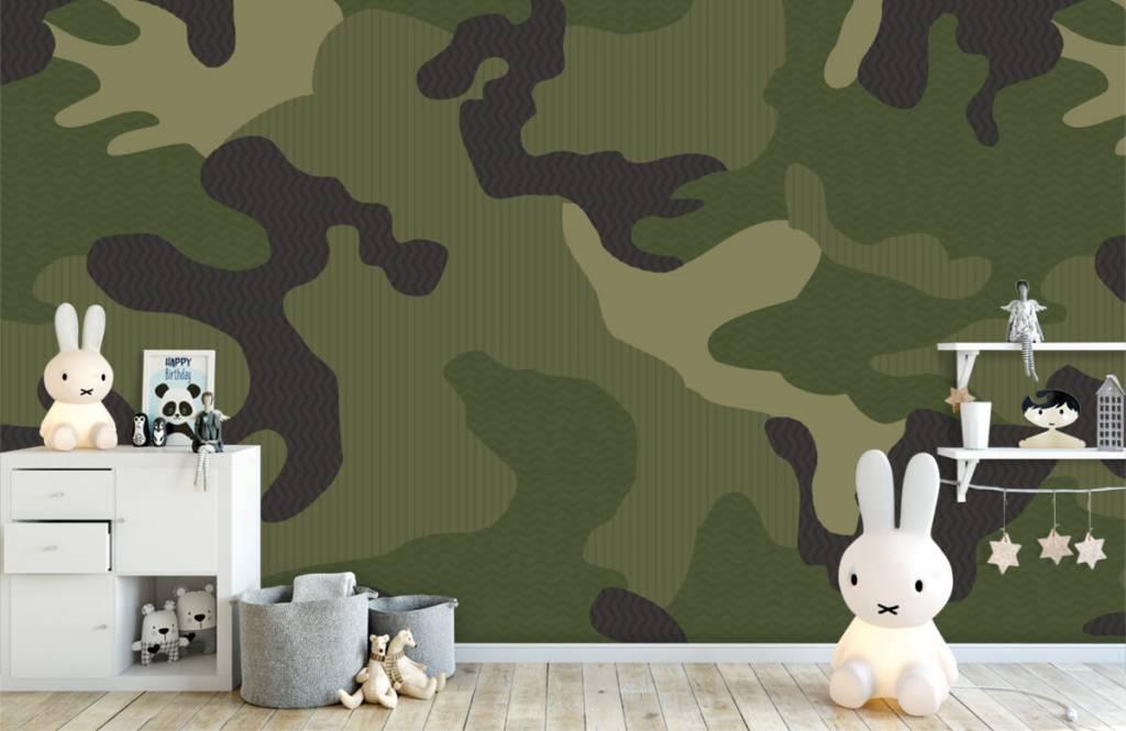 Barn tapeter Grön kamouflage 5