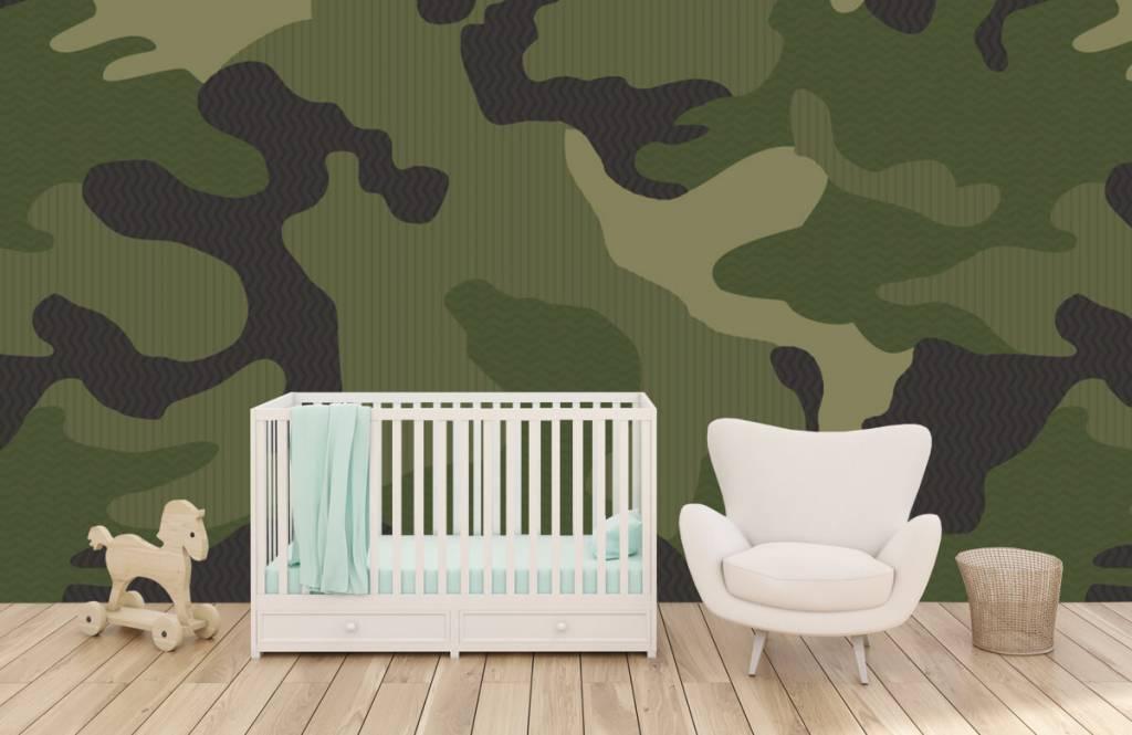 Barn tapeter Grön kamouflage 6