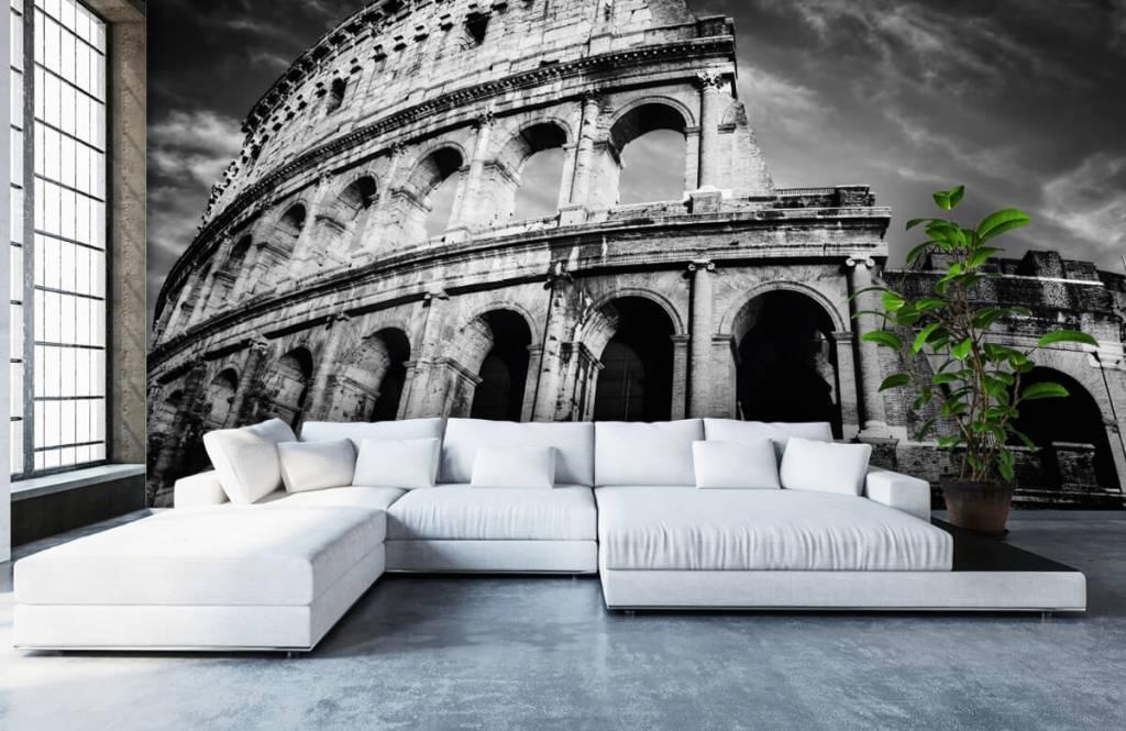 Svartvit tapet Colosseum i Rom 1