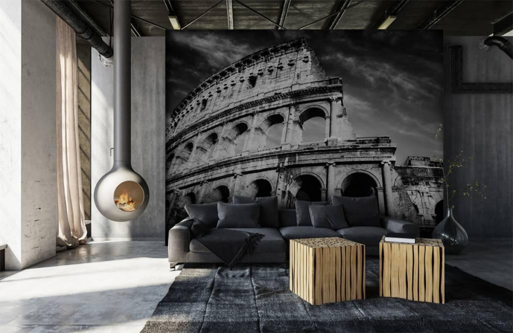 Svartvit tapet Colosseum i Rom 2
