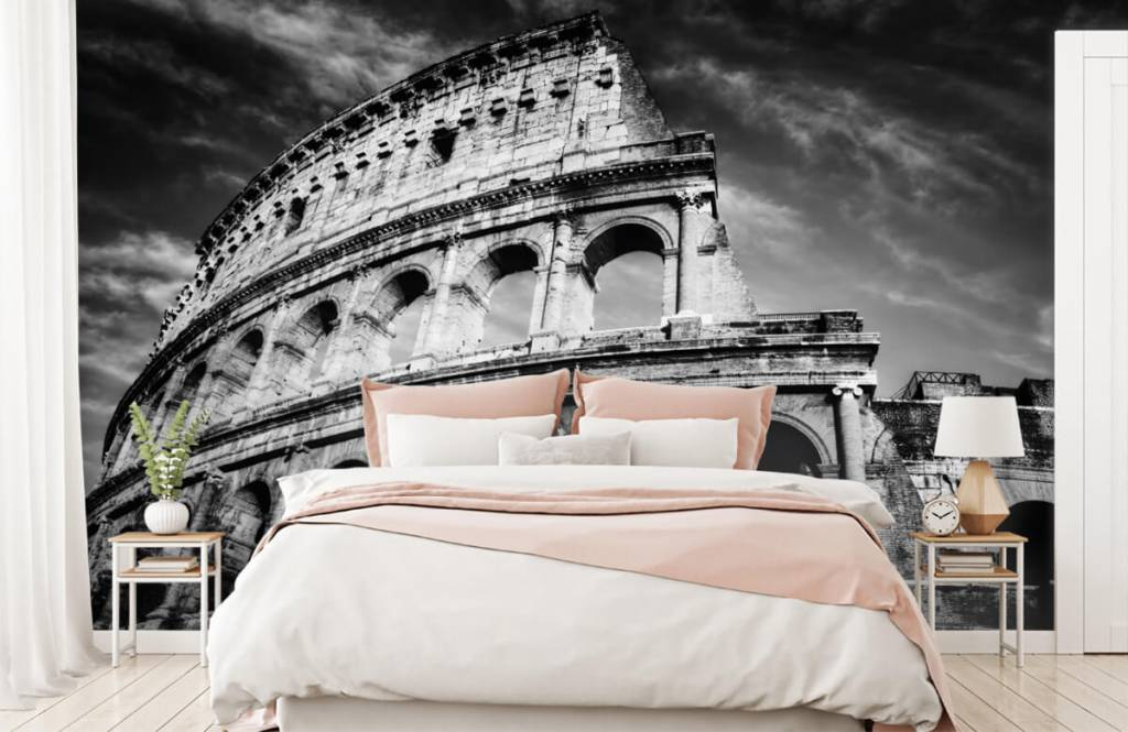 Svartvit tapet Colosseum i Rom 3