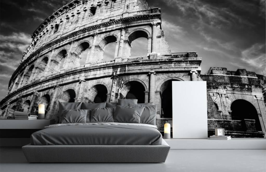 Svartvit tapet Colosseum i Rom 4