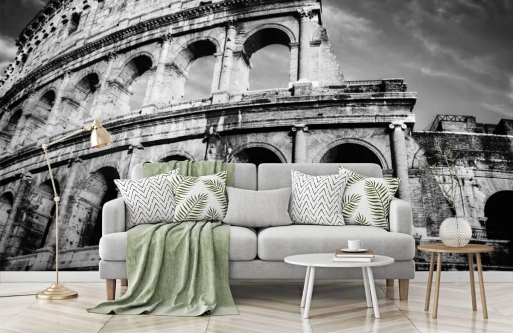 Svartvit tapet Colosseum i Rom 7
